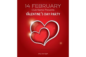 Happy Valentines Day Party Flyer