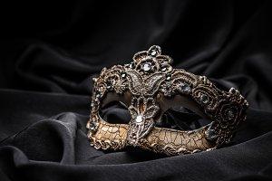 Brown carnival mask