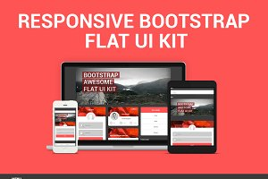 Bootstrap 3.0 Awesome Flat Ui Kit