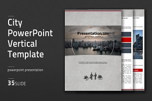City PowerPoint vertical Template