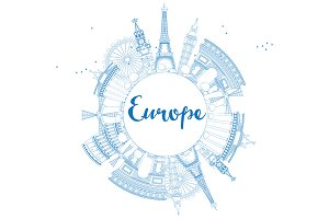 Outline famous landmarks in Europe