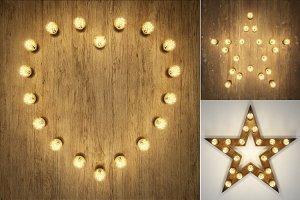 Light decor: heart & star