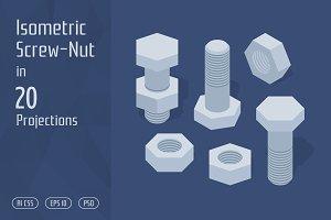 Isometric Screw-Nut
