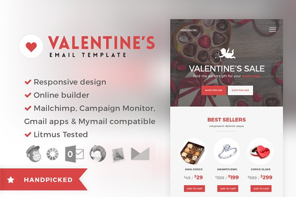Email Templates: NancyS - Valentine - Email + Builder Access