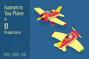 Isometric Toy Plane