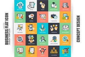 Flat Concept Icons Vector Design