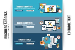 Flat Concept Business Success
