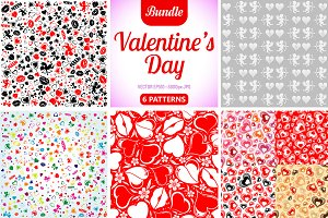Valentine's Day Seamless Textures