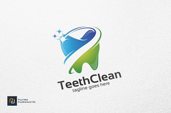 teeth clean dental logo template logo templates creative market