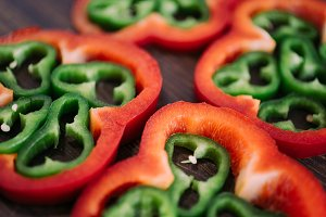 colored fresh pepper