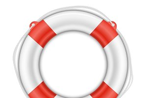 Life Buoy isolated on white