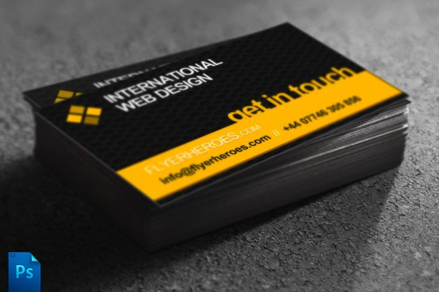 Business card template web designer business card templates business card template web designer business card templates creative market reheart Gallery