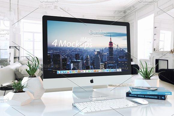 1 PSD Mockup IMAC White Interior Product Mockups Creative Market