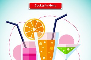 Cocktails Menu Variety of Beverages