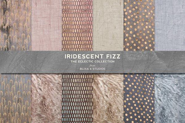 Iridescent Fizz Fur Watercolor Gold