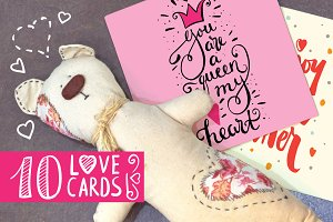 Hand lettering love cards
