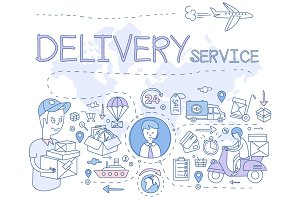 Delivery Service Infographics
