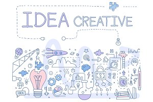 Creative Idea. Handdrawn Vector