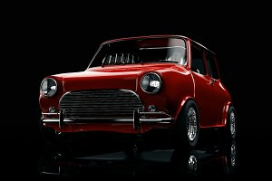 Red Classic Mini Cooper