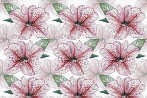 watercolour flower pattern