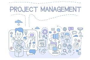 Project managemen Doodle style
