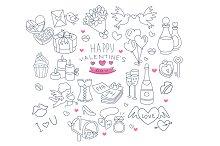 Valentines Day Handdrawn Vector