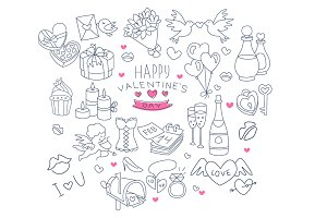 Valentines Day Handdrawn Vector