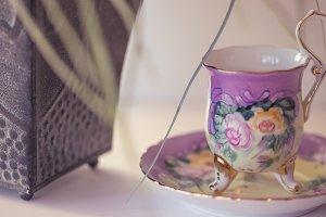 Tiny Lavender Teacup