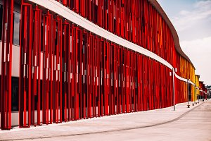 Red lines and forms