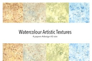 Artistic watercolour textures