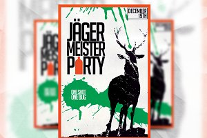Jaegermeister Party - Flyer Template