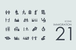 21 Immigration icons