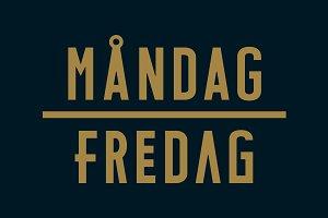 MÅNDAG - FREDAG Typeface