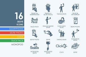 16 Selfie icons