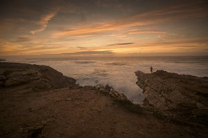 Cascias, Portugal Ocean Sunset