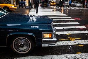 American car in Manhattan, NYC