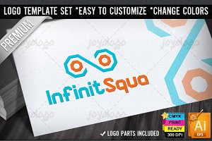 Squares Infinity Logo Template