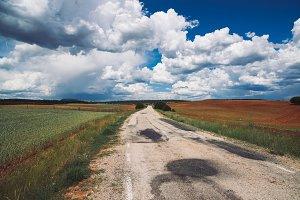 landscape with rural road