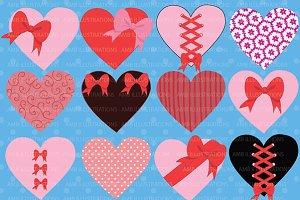 Valentines Hearts Clipart AMB-321