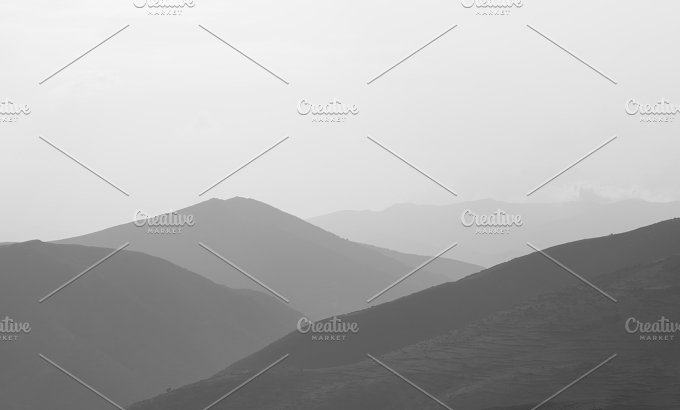 landscape with mountains - Nature
