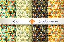Seamless patterns with cats