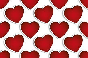 Valentine's seamless vector patterns