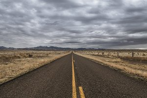 The Road out of Marfa, Texas