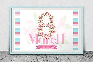 SET / 3 / 8 march with sakura flower