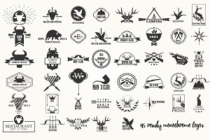 Hunting Badges Labels Logo
