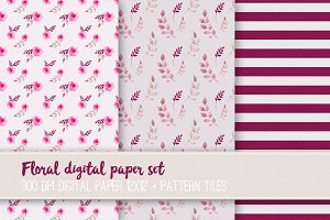 Floral digital paper set VR-03
