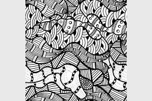 Vector abstract doodle background