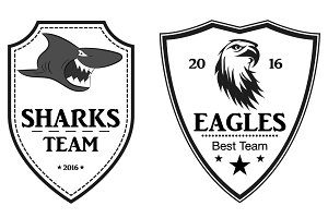 Sports logo, patch, emblem, vector