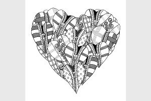 hand drawn heart
