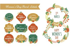Women's Day Floral Labels